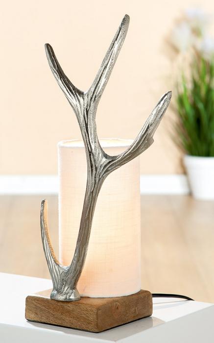 Veioza ANTLER, aluminiu mango, 20x12x42 cm imagine 2021 lotusland.ro