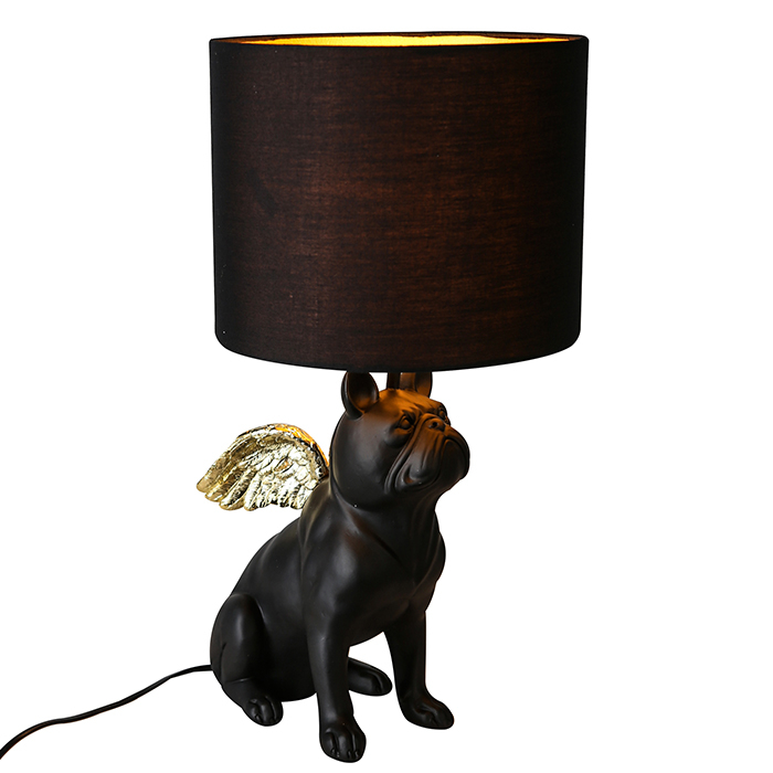 Veioza Flying Bulli, rasina panza, negru auriu, 55x26 cm imagine 2021 lotusland.ro
