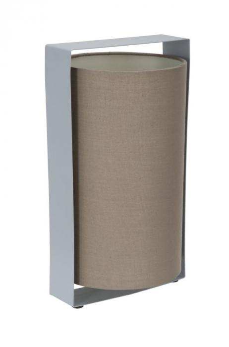 Veioza Miami, metal panza, gri maro, 20X18X35 cm imagine 2021 lotusland.ro