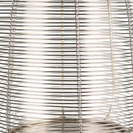 Set 2 felinare CAGE, otel inoxidabil/sticla, 44/27 cm3