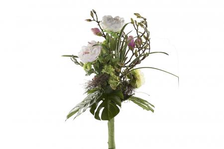 Set Vaza cu Buchet de flori SUPREME, sticla/matase, 95/40 cm1