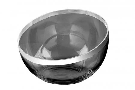Bol PLATINUM, sticla, 12x32 cm0