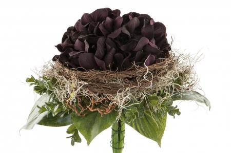 Buchet flori LILAC, fibre sintetice, 28x25 cm, Fink0
