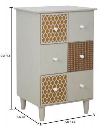 Bufet cu sertare AUNT (cm) 43,5X38X71,59