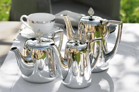 Cafetiera VIENNA, placata cu argint, 20 cm1
