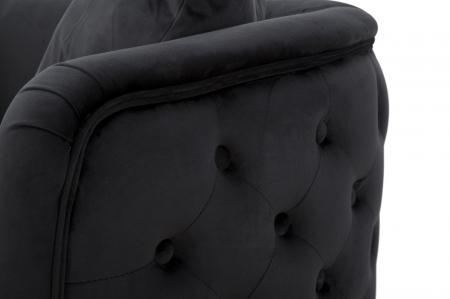 Canapea BUCHAREST, negru, 127X74X71 cm, Mauro Ferretti5