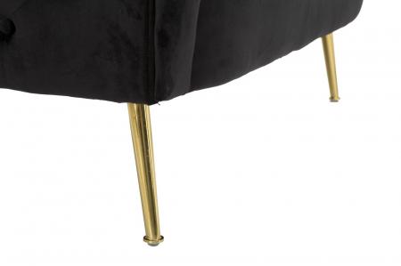 Canapea BUCHAREST, negru, 127X74X71 cm, Mauro Ferretti7