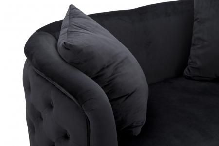 Canapea BUCHAREST, negru, 127X74X71 cm, Mauro Ferretti6