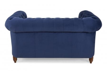 Canapea Chesterfield, 2 locuri, Albastru, 150x80x86 cm2