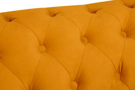 Canapea Chesterfield, 2 locuri, Galben, 150x80x86 cm6