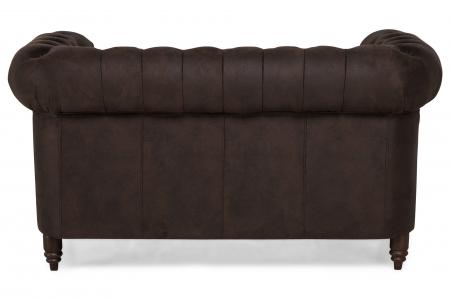 Canapea Chesterfield, 2 locuri, Maro , 150x80x86 cm4