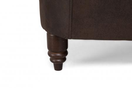 Canapea Chesterfield, 2 locuri, Maro , 150x80x86 cm3