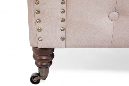 Canapea Chesterfield, 2 locuri, Roz, 150x80x86 cm5