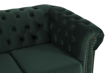 Canapea Chesterfield, 2 locuri, Verde, 150x80x86 cm4