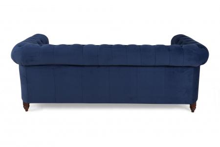 Canapea Chesterfield, 3 locuri, Albastru, 203x80x86 cm2