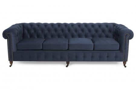 Canapea Chesterfield, 4  locuri, Albastru, 238x80x86 cm1