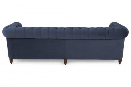 Canapea Chesterfield, 4  locuri, Albastru, 238x80x86 cm2