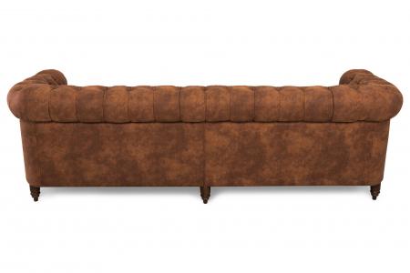 Canapea Chesterfield, 4  locuri, Maro coniac , 238x80x86 cm2