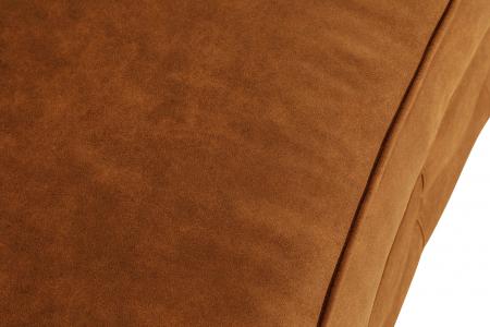 Canapea Chesterfield, Curbata, Maro coniac , 230x80x86 cm6