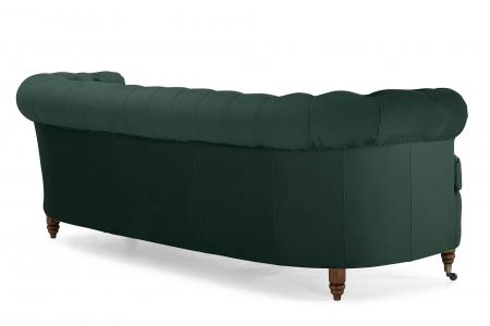Canapea Chesterfield, Curbata, Verde, 230x80x86 cm3