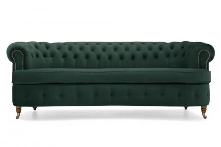 Canapea Chesterfield, Curbata, Verde, 230x80x86 cm1