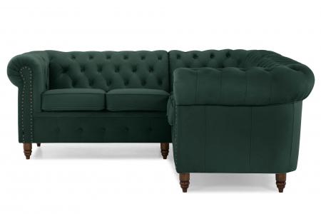 Canapea Chesterfield, Verde, 205x80x86 cm1