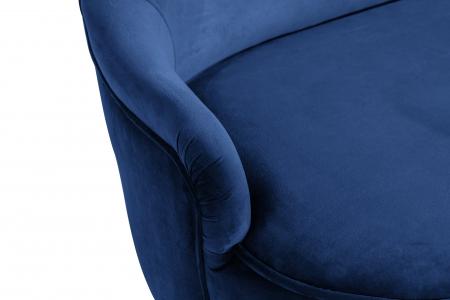 Canapea Diana 3H, Albastru, 140x86x67 cm5