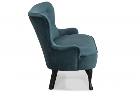 Canapea Diana 3H, Albastru verzui, 140x86x67 cm2