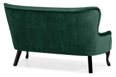 Canapea Diana 3H, Verde inchis, 140x86x67 cm3