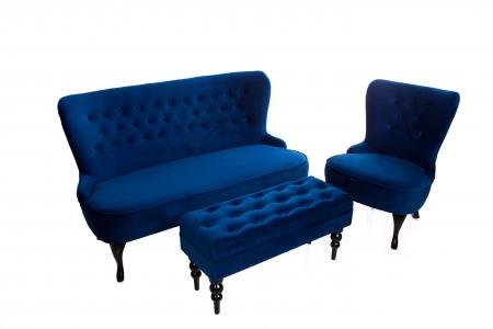 Canapea Diana 3L, Albastru, 140xx86x67 cm3