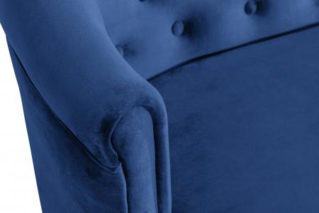 Canapea Mada, Albastru, 140x74x68 cm5