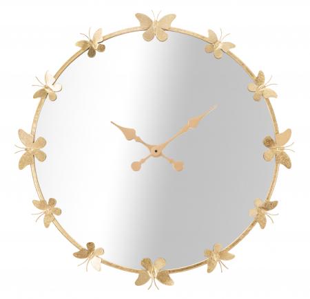 Ceas de perete cu oglinda GLAM BUTTERFLY CM Ø 75X4,5 (oglinda CM Ø 64), Mauro Ferretti [4]