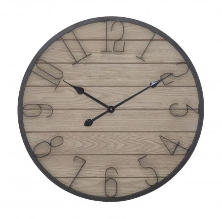 Ceas de perete WOOD, 60X4.5 cm, Mauro Ferretti 0