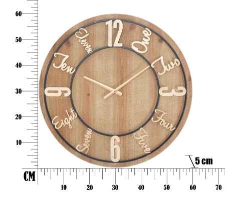 Ceas de perete WOOD CM Ø 60X5, Mauro Ferretti [5]
