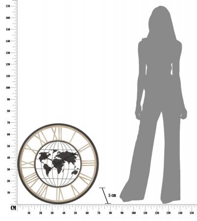 Ceas de perete WORLD, 70X5 cm, Mauro Ferretti6