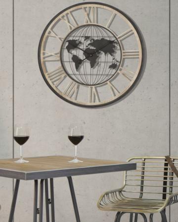 Ceas de perete WORLD, 70X5 cm, Mauro Ferretti5