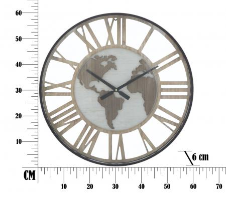 Ceas de perete WORLD CLASS, 60X6 cm, Mauro Ferretti 6