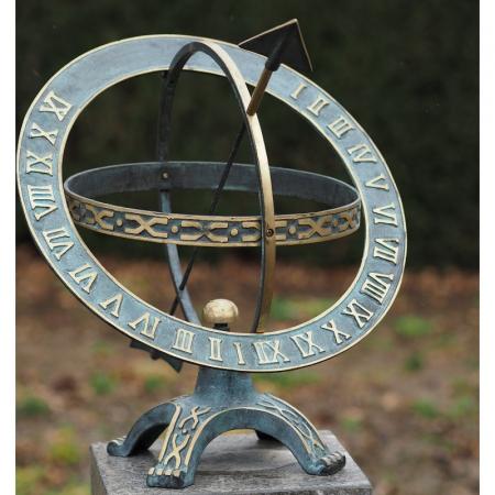 Ceas solar de bronz Sundial 42 cm1