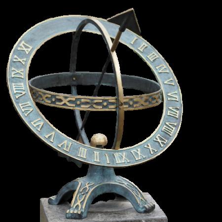 Ceas solar de bronz Sundial 42 cm0