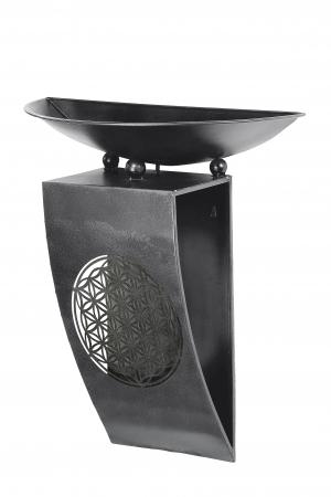Consola flori FLORALE, metal, 65x28x58 cm1
