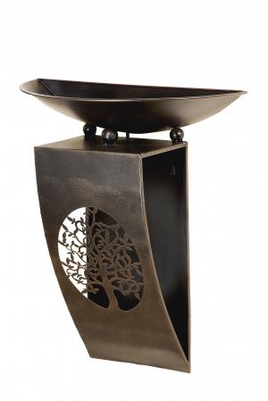 Consola flori TREE, metal, 65x28x52 cm1