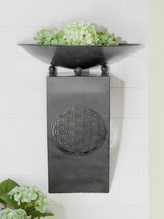 Consola flori FLORALE, metal, 65x28x58 cm0