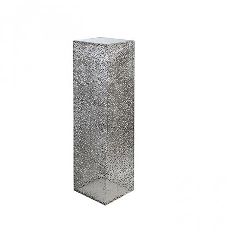 Consola PURLEY, metal/sticla, 100x27x27 cm0