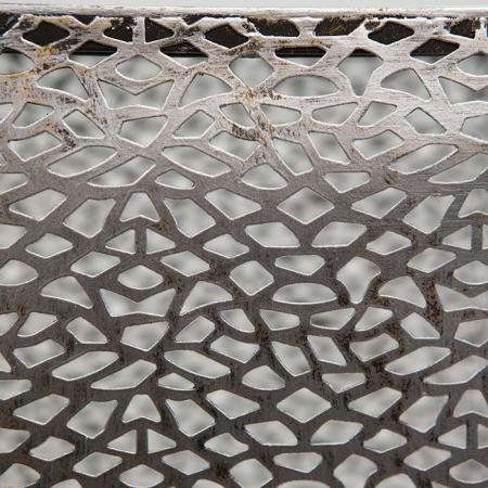 Consola PURLEY, metal/sticla, 70x27x27 cm3