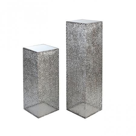 Consola PURLEY, metal/sticla, 70x27x27 cm1