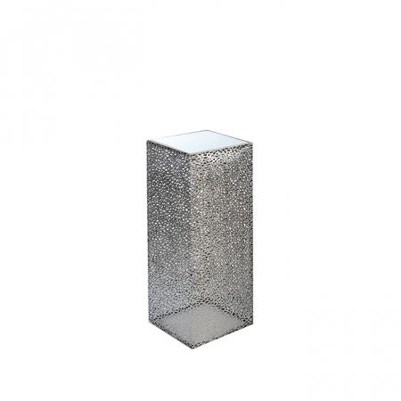 Consola PURLEY, metal/sticla, 70x27x27 cm0
