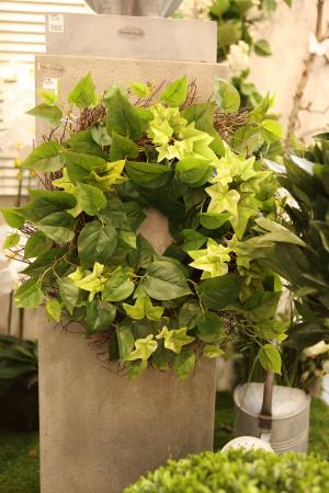 Coronita decorativa Ivy, artificial, verde, 50 cm0