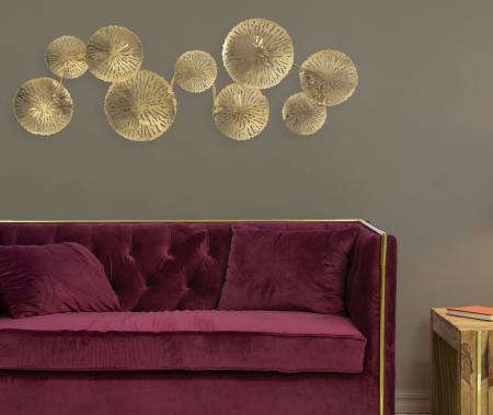 Corp de iluminat de perete cu 5 becuri DISHY, metal, 138X9X50 cm, Mauro Ferretti7