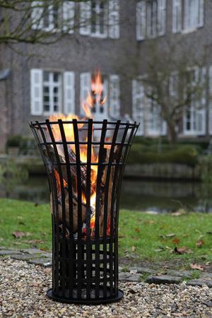 Cos pentru foc FIRE, metal, 79x53 cm1