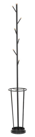 Cuier cu suport pentru umbrele GLAM negru (cm)Ø 26X1760